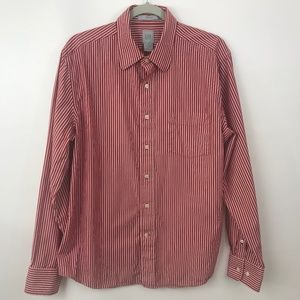 GAP Shirt Large Red Stripe Fitted